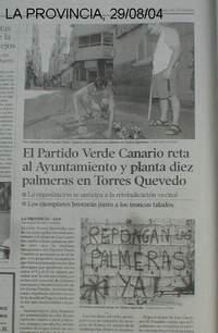 REPLANTACION DE PALMERAS -LA PROVINCIA